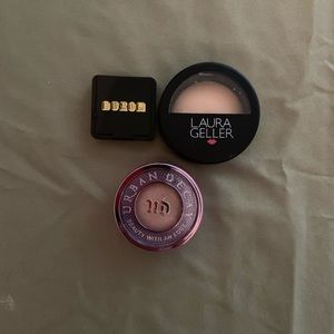 Urban Decay, Laura Geller, Buxom mini makeup
